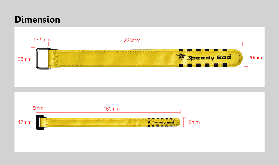 Speedy Bee Tie Down Strap for Lipo Battery